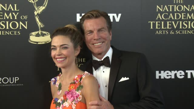 Amelia Heinle and Peter Bergman at the 2014 Daytime Emmy Awards at The Beverly Hilton Hotel on June 22 2014 in Beverly Hills California