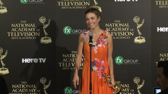 SPEECH Amelia Heinle at the 2014 Daytime Emmy Awards Press Room at The Beverly Hilton Hotel on June 22 2014 in Beverly Hills California