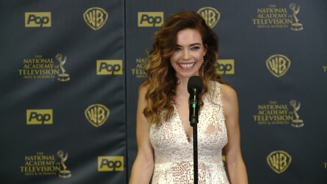SPEECH Amelia Heinle on winning the award at 42nd Annual Daytime EMMY Awards at Warner Bros Studios on April 26 2015 in Burbank California