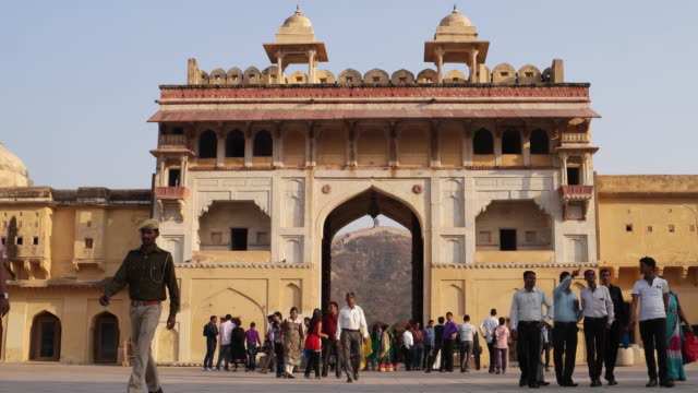 amer fort entry gate - palace stock videos & royalty-free footage