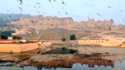 Amer Fort is a fort located in Amer, Rajasthan, India. Located high on a hill, it is the principal tourist attraction in Jaipur.