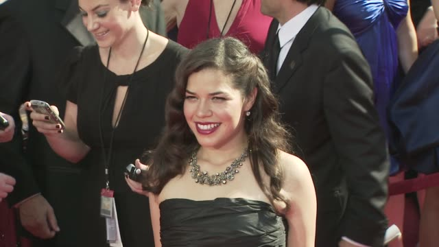 america, america ferrera at the 60th primetime emmy awards at los angeles ca. - america ferrera stock videos & royalty-free footage