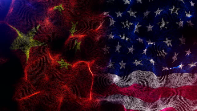 america and china flag competition - american flag stock videos & royalty-free footage
