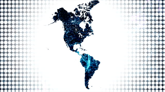 america continent map - north america stock videos & royalty-free footage