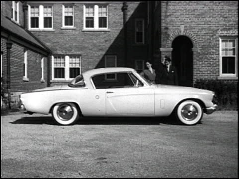 """america expects the newest from studebaker, and studebaker again more than lives up to everyone's expectations!"" the voiceover proudly proclaims. a... - industrial designer stock videos & royalty-free footage"