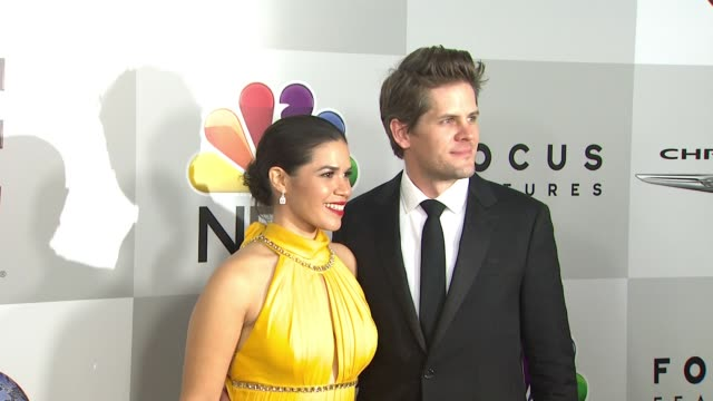 america ferrera and ryan piers williams at the universal, nbc, focus features, e! entertainment golden globes after party sponsored by chrysler at... - america ferrera stock videos & royalty-free footage