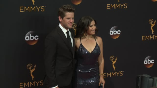america ferrera at 68th annual primetime emmy awards - arrivals in los angeles, ca 9/18/16 - america ferrera stock videos & royalty-free footage