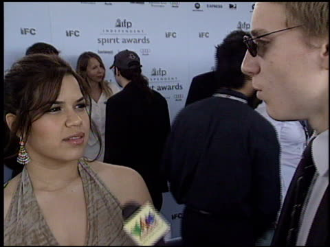 america ferrera at the 2003 ifp independent spirit awards on march 22 2003 - ifp independent spirit awards stock videos and b-roll footage