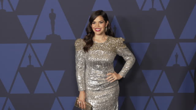 america ferrera at the 2019 governors awards on october 26, 2019 in hollywood, california. - america ferrera stock videos & royalty-free footage
