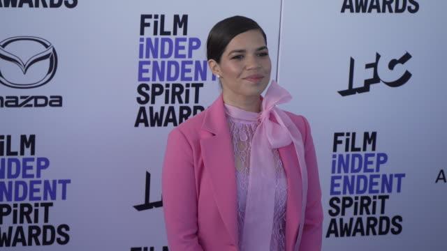 america ferrera at the 2020 film independent spirit awards on february 08, 2020 in santa monica, california. - america ferrera stock videos & royalty-free footage