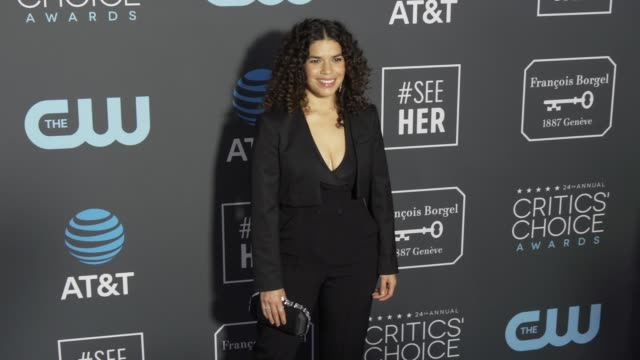 america ferrera at the 24th annual critics' choice awards at barker hangar on january 13, 2019 in santa monica, california. - america ferrera stock videos & royalty-free footage