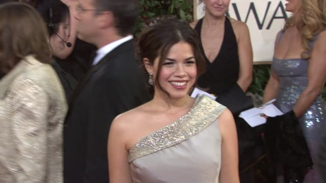 america ferrera at the 66th annual golden globe awards arrivals part 6 at los angeles ca. - america ferrera stock videos & royalty-free footage