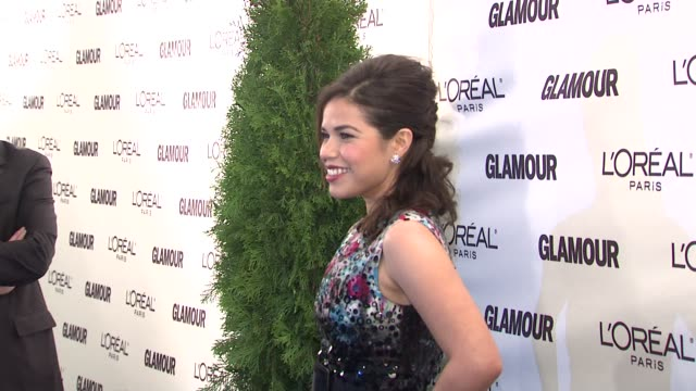 america ferrera at the glamour magazine honors the 2008 women of the year at new york ny. - america ferrera stock videos & royalty-free footage