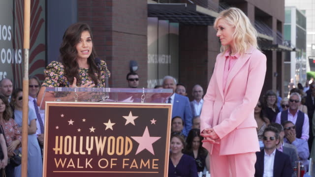 america ferrera at the judith light honored with a star on the hollywood walk of fame in los angeles, ca 9/12/19 - america ferrera stock videos & royalty-free footage
