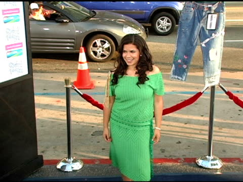 america ferrera at the 'the sisterhood of the traveling pants' world premiere at grauman's chinese theatre in hollywood, california on may 31, 2005. - mann theaters stock videos & royalty-free footage