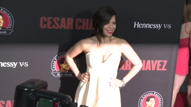 """america ferrera - """"cesar chavez"""" los angeles premiere at tcl chinese theatre on march 20, 2014 in hollywood, california. - tcl chinese theatre stock videos & royalty-free footage"""