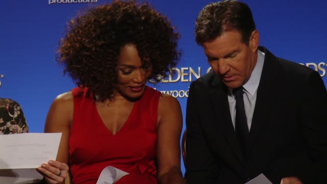 America Ferrera Chloe Grace Moretz Angela Bassett and Dennis Quaid at the 73rd Annual Golden Globe Awards Nominations Announcement at The Beverly...