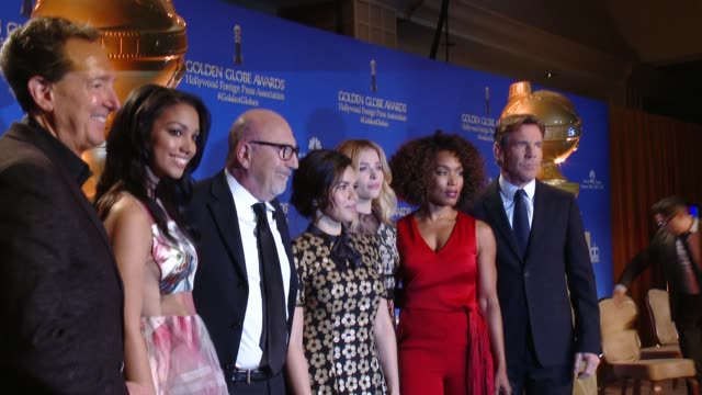 America Ferrera Chloe Grace Moretz Angela Bassett and Dennis Quaid vat the 73rd Annual Golden Globe Awards Nominations Announcement at The Beverly...