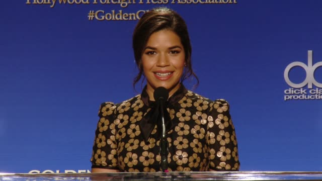 America Ferrera Chloe Grace Moretz Angela Bassett and Dennis Quaid announce the nominees at the 73rd Annual Golden Globe Awards Nominations...