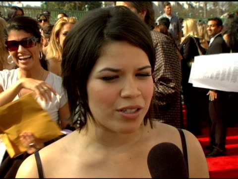 america ferrera on the importance of the alma awards at the 2006 nclr alma awards at the shrine auditorium in los angeles, california on may 7, 2006. - america ferrera stock videos & royalty-free footage
