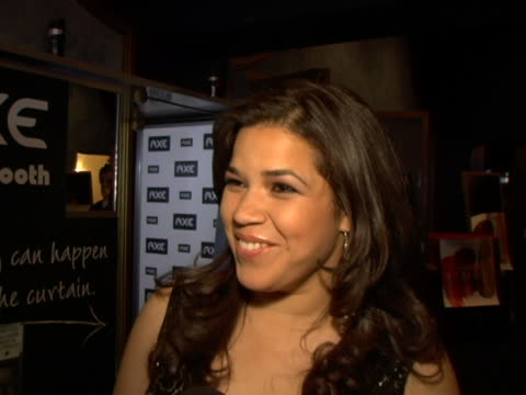 america ferrera on which axe scent best describes her or her partner and what comes to mind when she thinks of axe products at the hollywood life's... - america ferrera stock videos & royalty-free footage