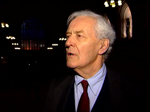 stockvideo's en b-roll-footage met america missile attack; america missile attack; itn england: night tony benn mp interview sot - what americans are doing is illegal/ charter says... - tony benn
