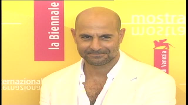 american actor stanley tucci attends a photocall to promote the film 'the devil wears prada' during the 63rd venice film festival on september 7 2006... - the devil wears prada film title stock videos and b-roll footage
