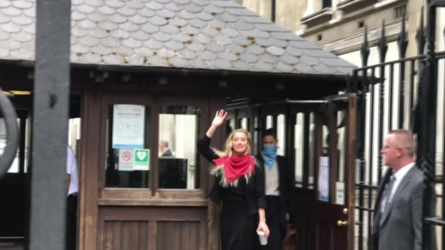 american actress and model amber heard arrives at royal courts of justice for the libel case against the sun newspaper sued by her exhusband johnny... - libel stock videos & royalty-free footage