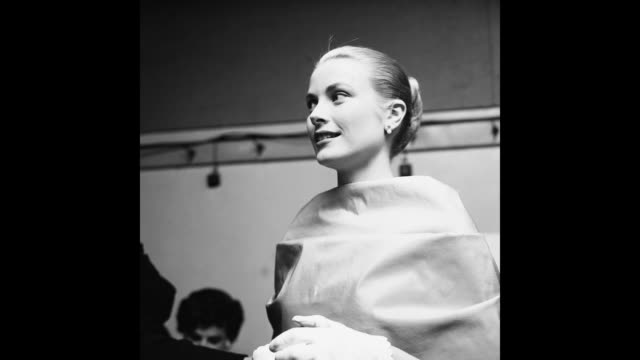 gif american actress grace kelly attends the academy awards at the pantages theatre in hollywood california 30th march 1955 - grace kelly actress stock videos & royalty-free footage