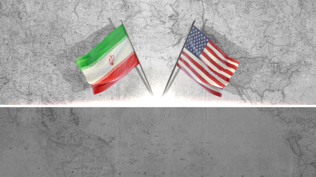 american and iranian  flags - iran stock videos & royalty-free footage