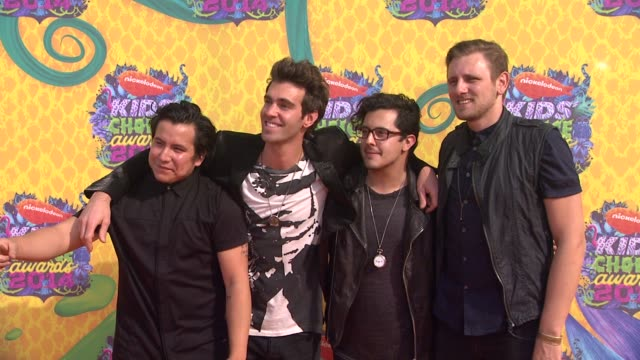 american authors at nickelodeon's 27th annual kids' choice awards at usc galen center on march 29, 2014 in los angeles, california. - nickelodeon stock videos & royalty-free footage