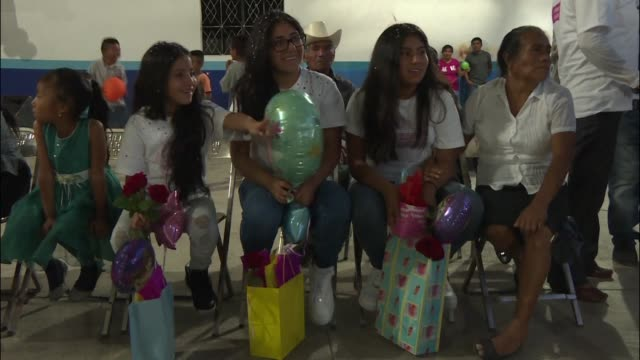american born children of mexican migrants visit relatives in their parents homeland thanks to a local charity that seeks to promote family... - mexican american stock videos & royalty-free footage