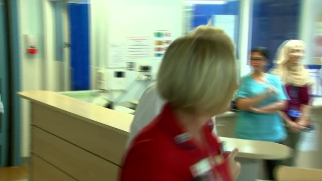 american businesswoman jennifer arcuri denies favouritism from boris johnson england london watford general hospital int boris johnson mp greeting... - businesswoman stock videos & royalty-free footage