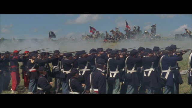 MS, REENACTMENT American civil war battle