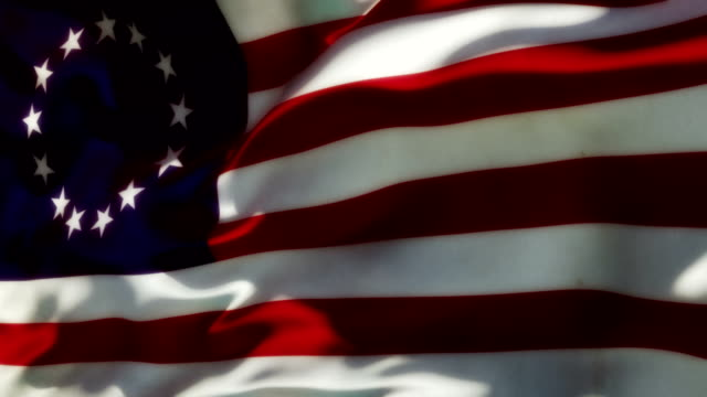 stockvideo's en b-roll-footage met american colonial flag - colony