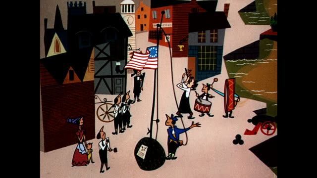 american colonists raise original 13-star flag - 1954 stock videos & royalty-free footage