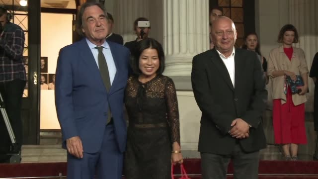 stockvideo's en b-roll-footage met american director oliver stone says sunday during the sarajevo film festival that the united states has lost its balance with a generation of people... - oliver stone