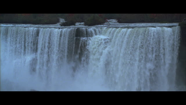 ha american falls, with mist boiling up from below / niagara falls, new york, united states - river niagara stock videos & royalty-free footage