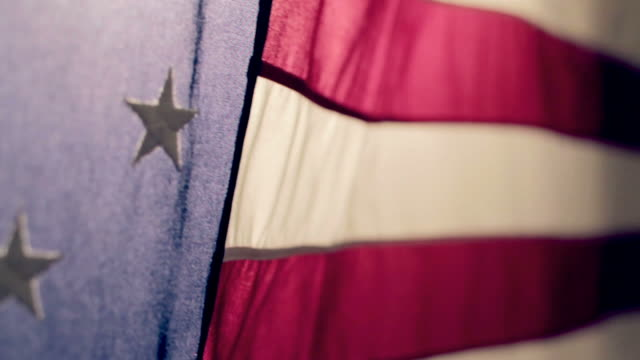 american flag 2 - stars and stripes stock videos & royalty-free footage