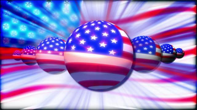 vídeos y material grabado en eventos de stock de american flag, abstract background - filtración de luz