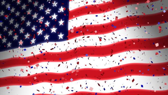 Amerikanische Flagge & Konfetti