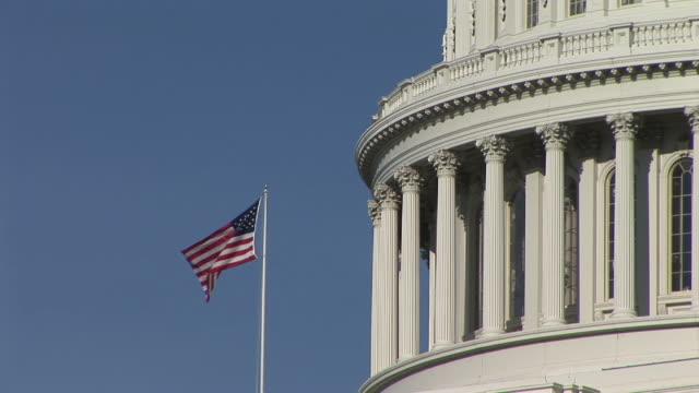 CU, American flag at United States Capitol, Washington, DC, Washington, USA