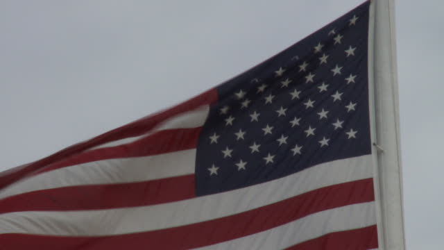 American Flag blowing in the wind close and wide on February 13 2011 in Washington DC