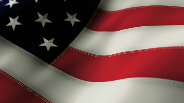 American Flag Close Up - Looping