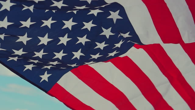 american flag for memorial independence day 4th of july - july stock videos & royalty-free footage