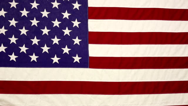 American flag gently blowing in breeze.