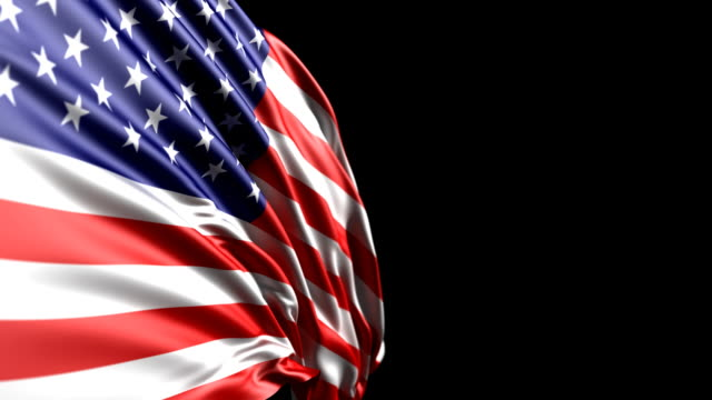 american flag hd, pal, ntsc, alpha included, looping - stars and stripes stock videos & royalty-free footage