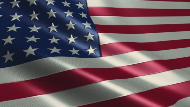 american flag high detail - looping stock video - amerikanischer treueschwur stock-videos und b-roll-filmmaterial