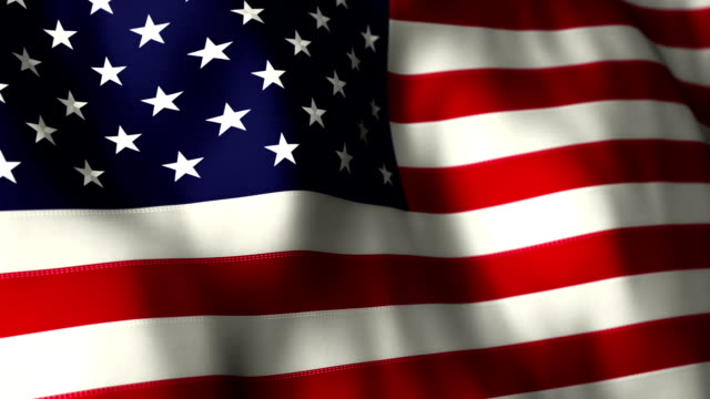 american flag high detail - looping - flag stock videos & royalty-free footage