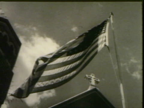 american flag in the wind - us flag stock videos and b-roll footage